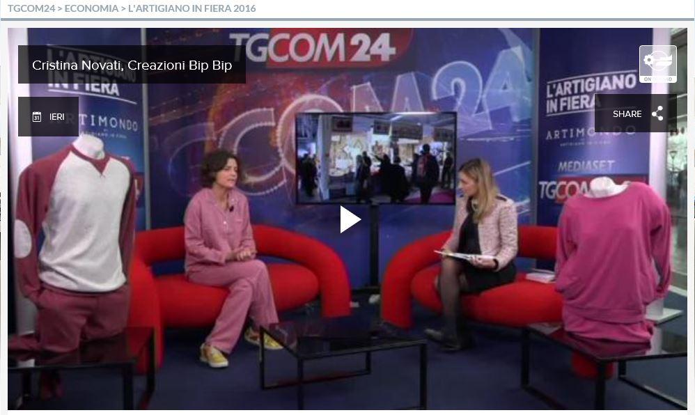 Intervista a TGCOM24 a L'artigiano in Fiera